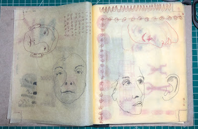 sketchbook with architect's tracing paper. Judith Hoffman