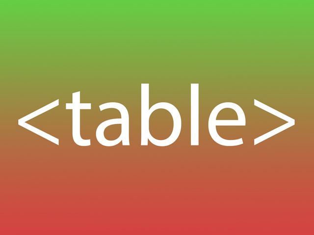 HTML Table