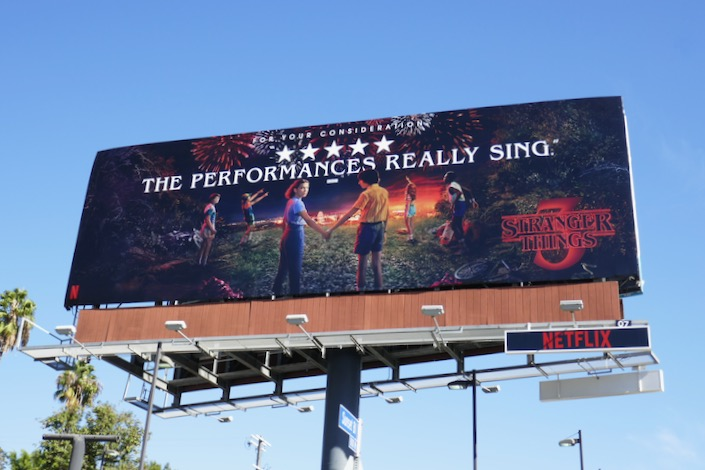 Stranger Things 3 For your consideration billboard