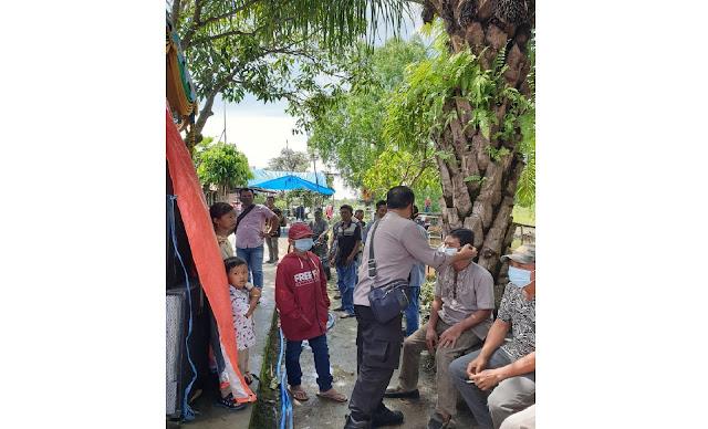 Antisipasi Penyebaran Virus Covid-19, Polsek Pulau Petak Sambangi Acara Perkawinan