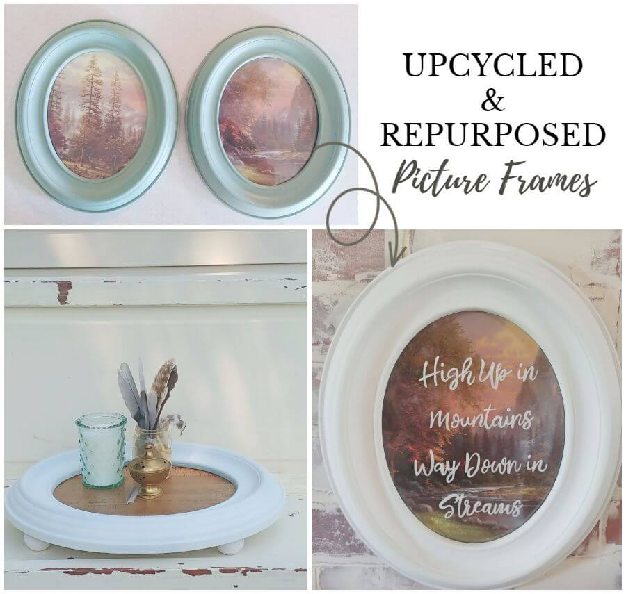 Upcycled and Repurposed Picture Frames