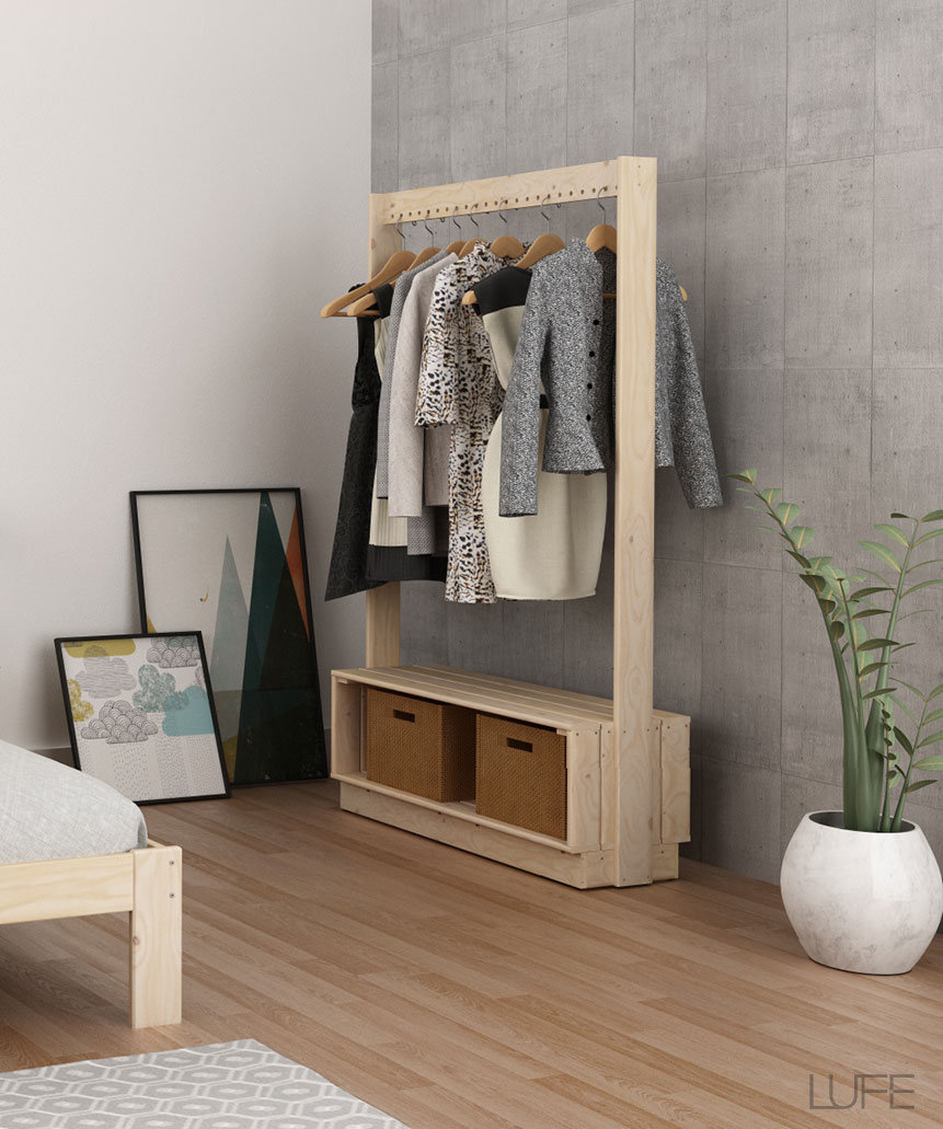 Muebles lufe natural style diariodeco - Burro para ropa ...