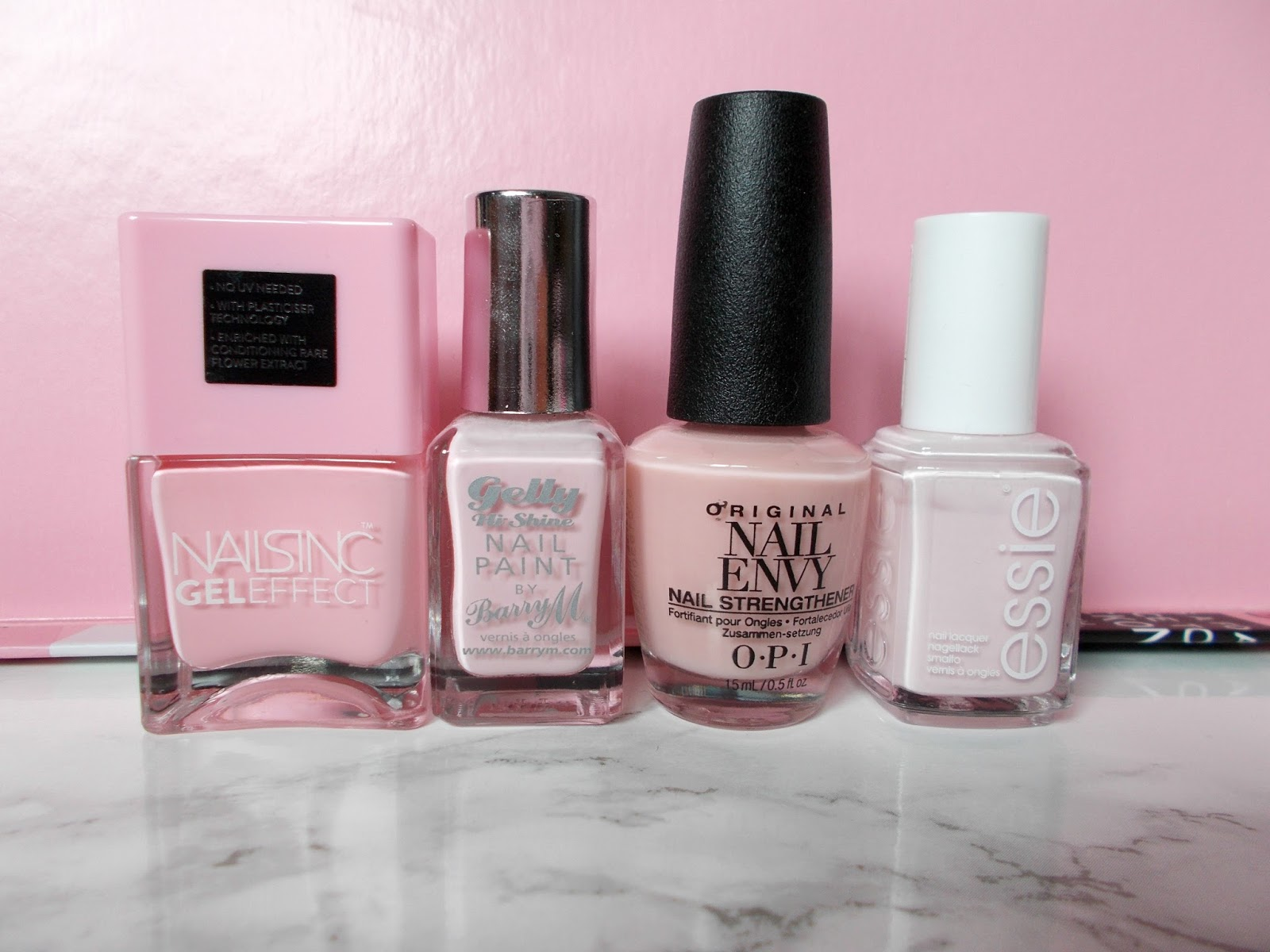 spring summer nail polishes glossier pink nails inc chiltern street barry m rose hip opi bubble bath essie fiji