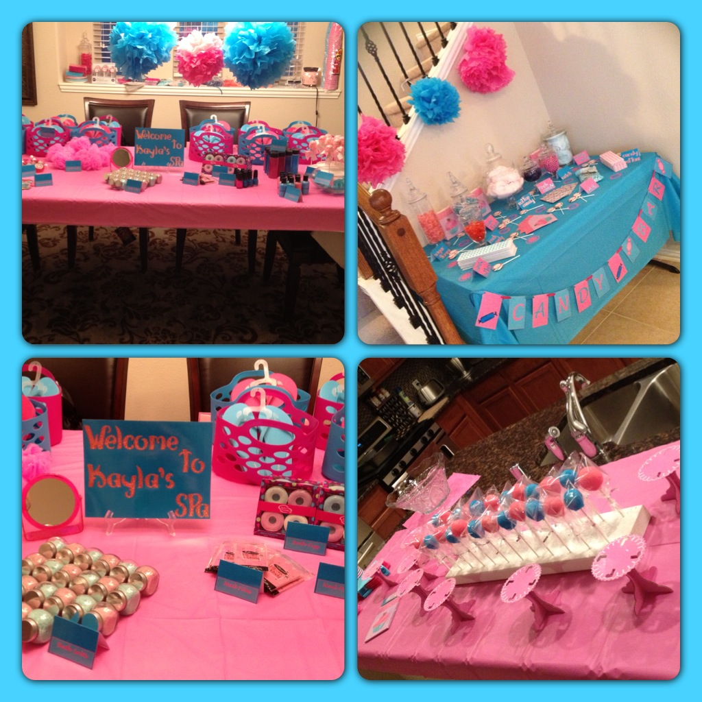 I Hand Made Most Of The Candies To Match Party Colors And We Had Cupcakes Cakepops That Matched Also