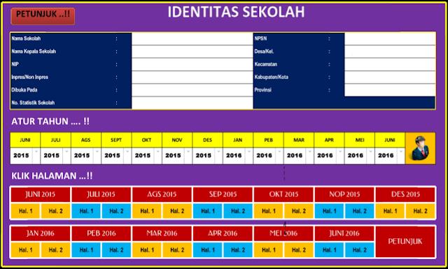 Aplikasi Administrasi Sekolah - Format Laporan Bulanan Sekolah Microsoft Excel