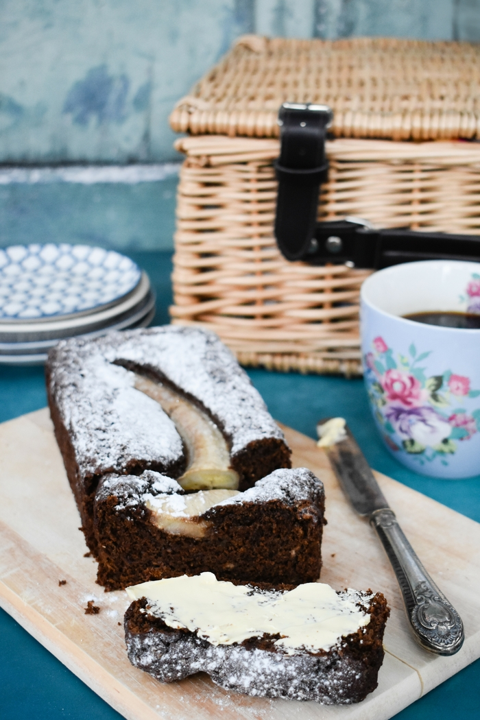 Vegan Dark Treacle Banana Gingerbread