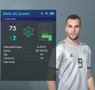 PES 2019 Faces Djamel Benlamri by TiiToo Facemaker