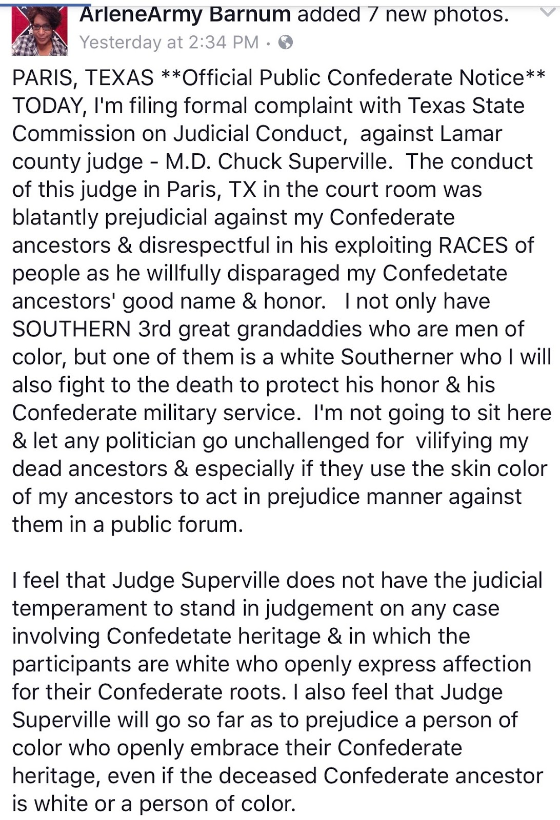 After they leave a town and sometimes while they re there Arlene and some  of her supporters zone in on anyone who opposed the removal of a  Confederate ... 37b7495d494d