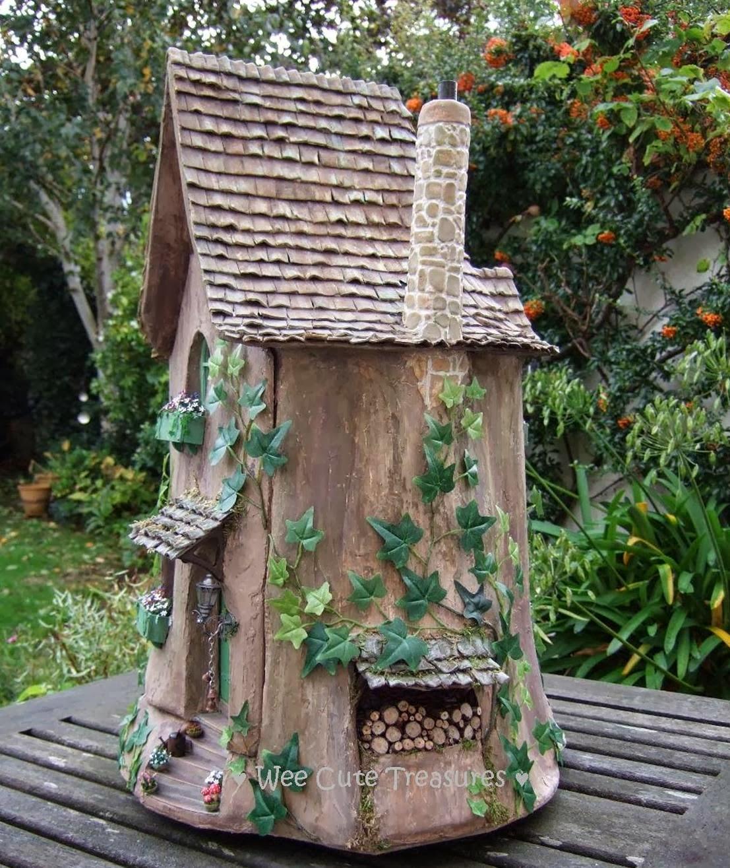 Gnome Tree Stump Home: Wee Cute Treasures: October 2013