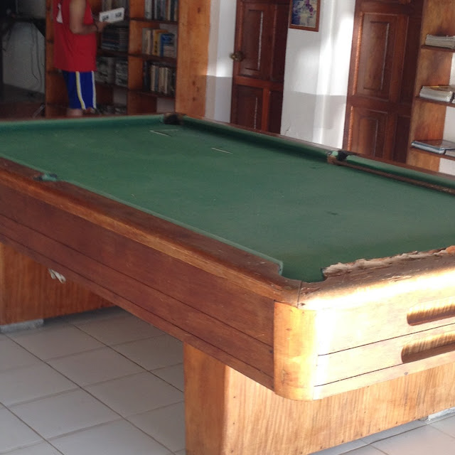 Billiard table at Virgin Beach Resort