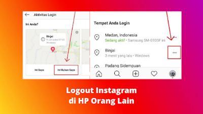 Cara Logout Akun Instagram Di HP Orang Lain