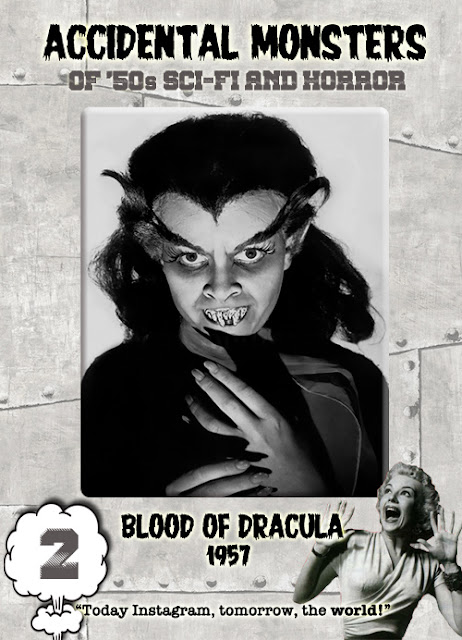 Accidental Monsters of the '50s trading card #2: Blood of Dracula