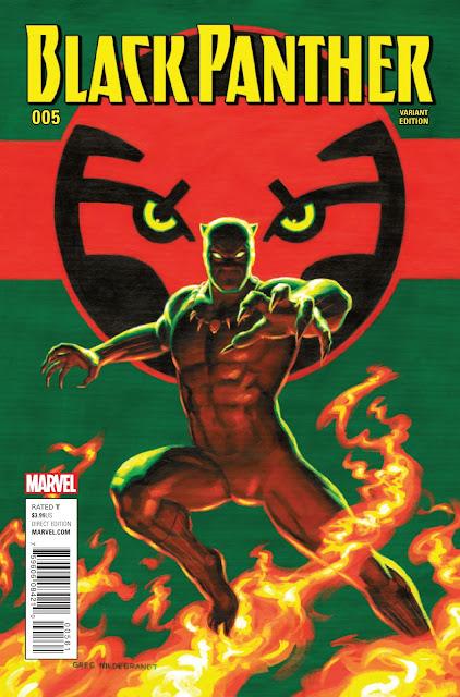 Black Panther #5 Brian Hildebrandt variant cover
