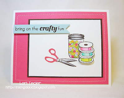 Bring on the Crafty Fun-designed by Lori Tecler-Inking Aloud-stamps from Clear and Simple Stamps