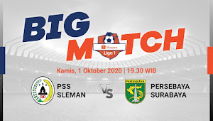Link Live Streaming PSS Sleman vs Persebaya (1/10/2020)