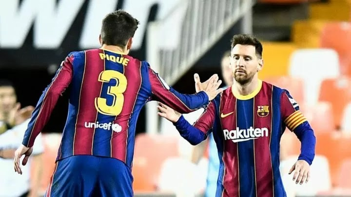 Messi brace keeps Barcelona in contention for LaLiga with Pique backing them