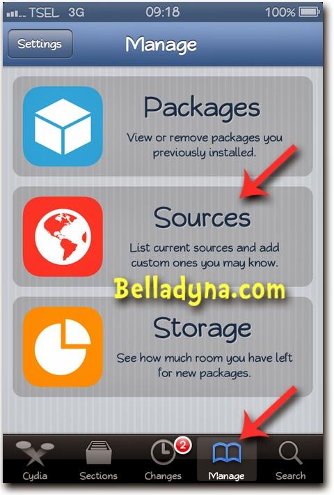 Cara Install Aplikasi iPhone dari Cydia dan Tambah Repo di Cydia