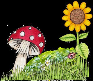 gambar bunga kartun bagus