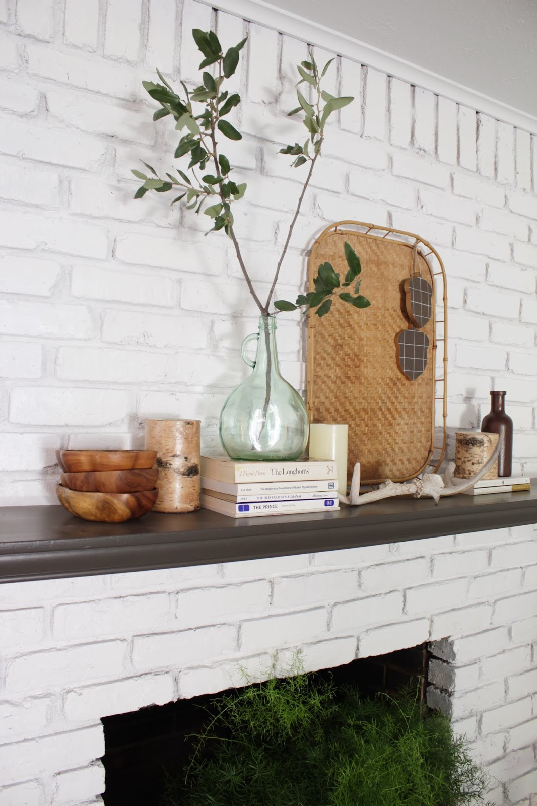 The Global Styler: Scandinavian Fall Mantel Decor