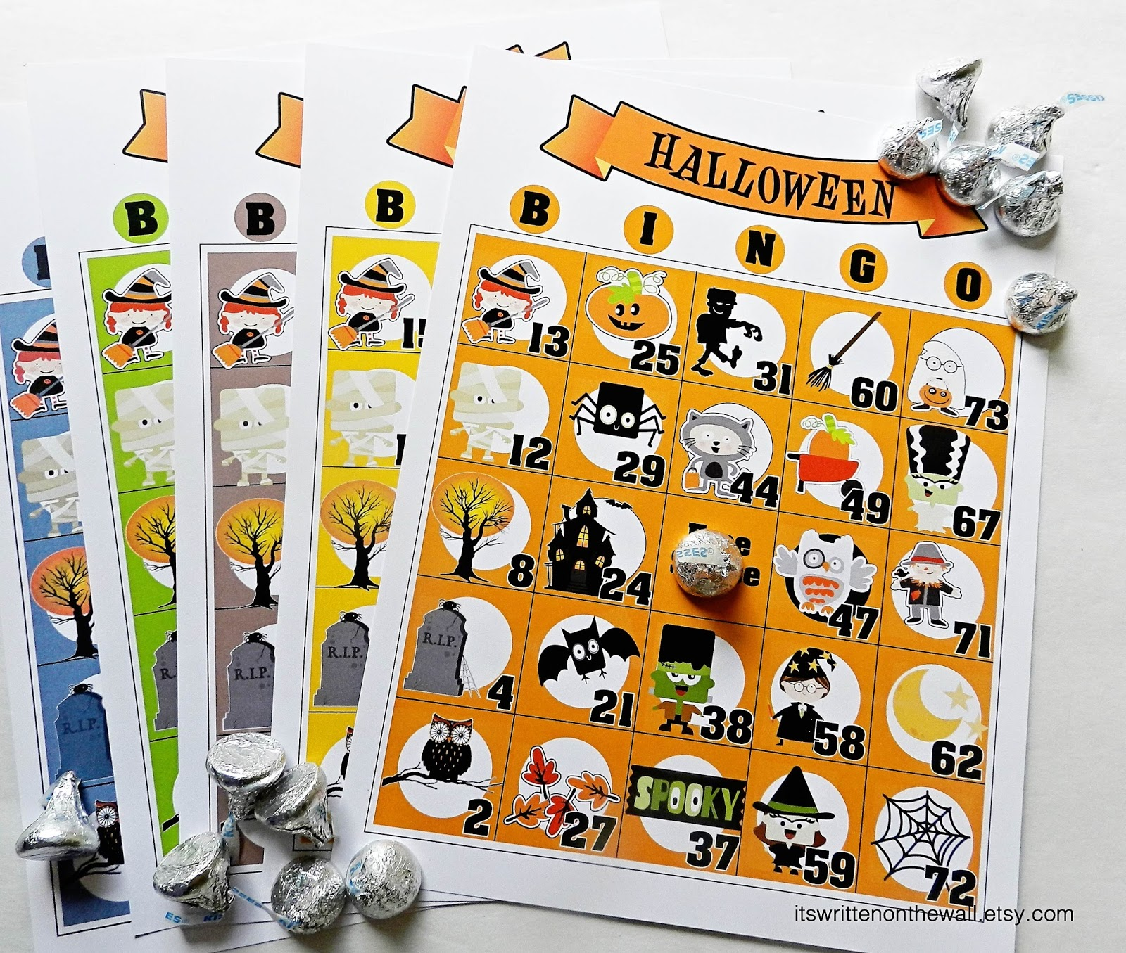 check it out halloween bingo game fun for school or home halloween parties there are several different sizes of this bingo game plus a number calling - Preschool Halloween Bingo