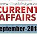 01 September 2018 Current Affairs