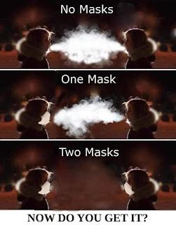 Masks plus distance - very effective.
