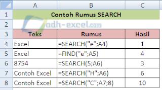 rumus SEARCH di excel