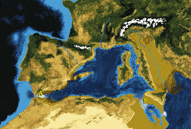 Evidence for a giant flood in the central Mediterranean Sea
