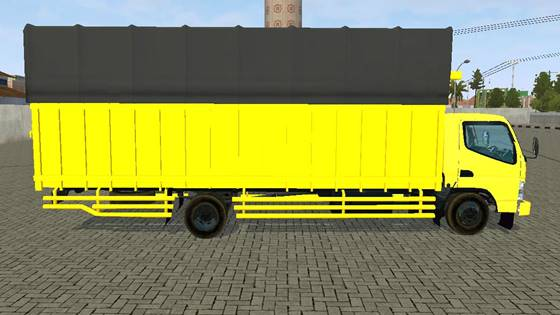mod truck canter hdl long chassis bussid
