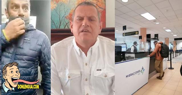 Xenófobo peruano intentó escapar del país para no pagar la multa