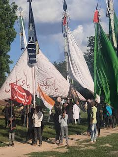 गमगीन माहौल में मनाया गया शहीदाने करबला का चेहलुम   #NayaSaberaNetwork