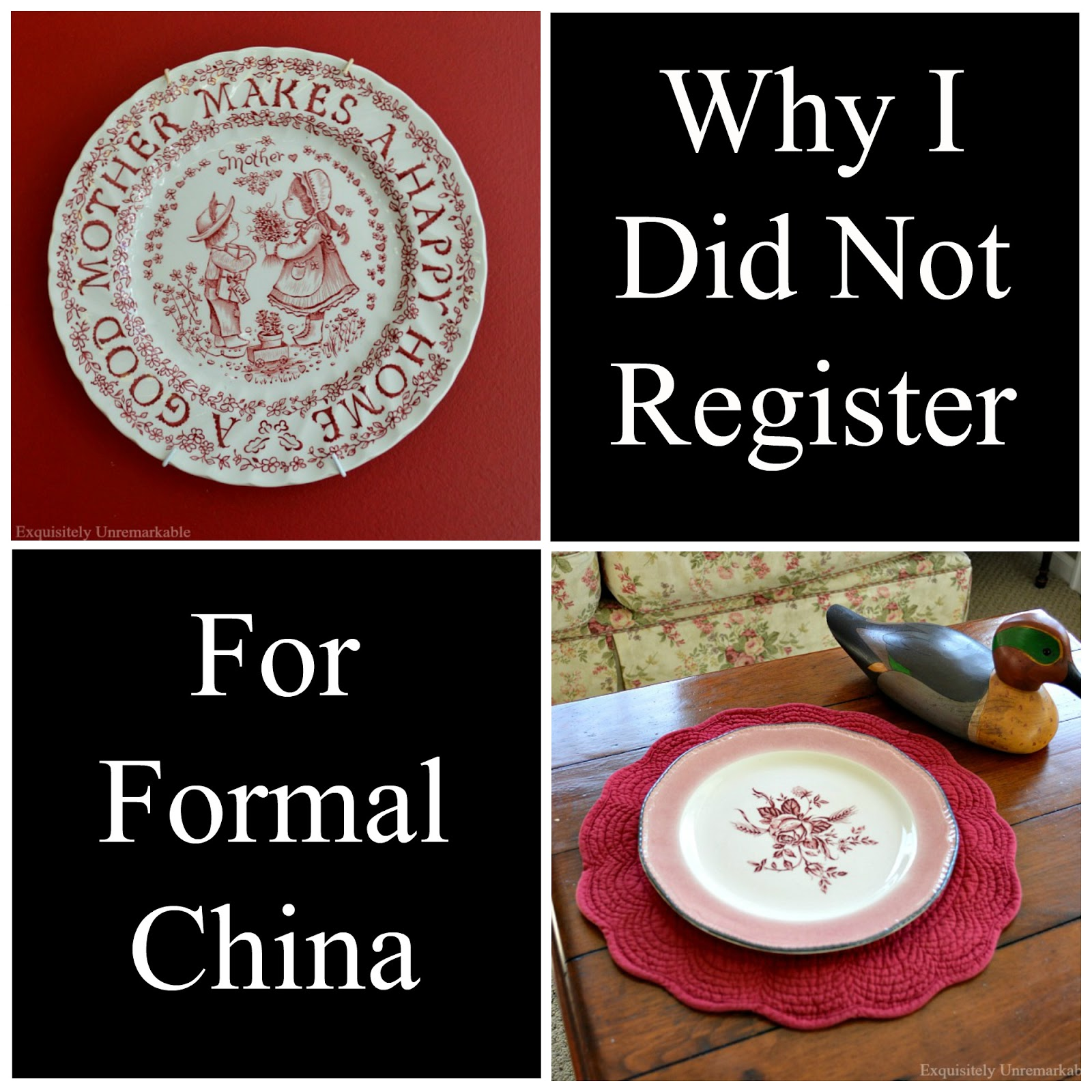 Don't Register For China