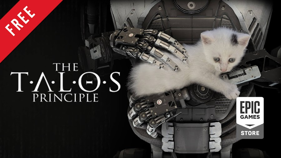 the talos principle free pc game epic games store first-person puzzle game croteam devolver digital