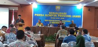Plh Sekda Provinsi Jambi Secara Membuka Sosialisasi Perda RZWP3K Provinsì Jambi 2013 - 2039 Dinas Kelautan Perikanan Provinsi Jambi.