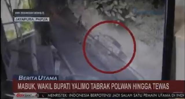 Wakil Bupati Walimo Mabuk Tabrak Polwan Hingga Tewas Terekam CCTV