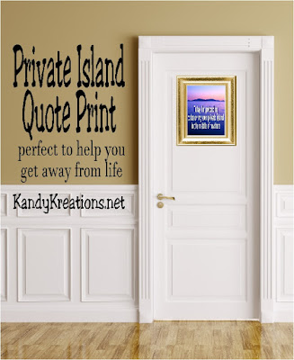 """""""Today I'm pretending to be on my own private island in the middle of nowhere."""" Get away today by posting this print, turning off your phone, closing the door, and pretending with a long, hot soak in the tub."""