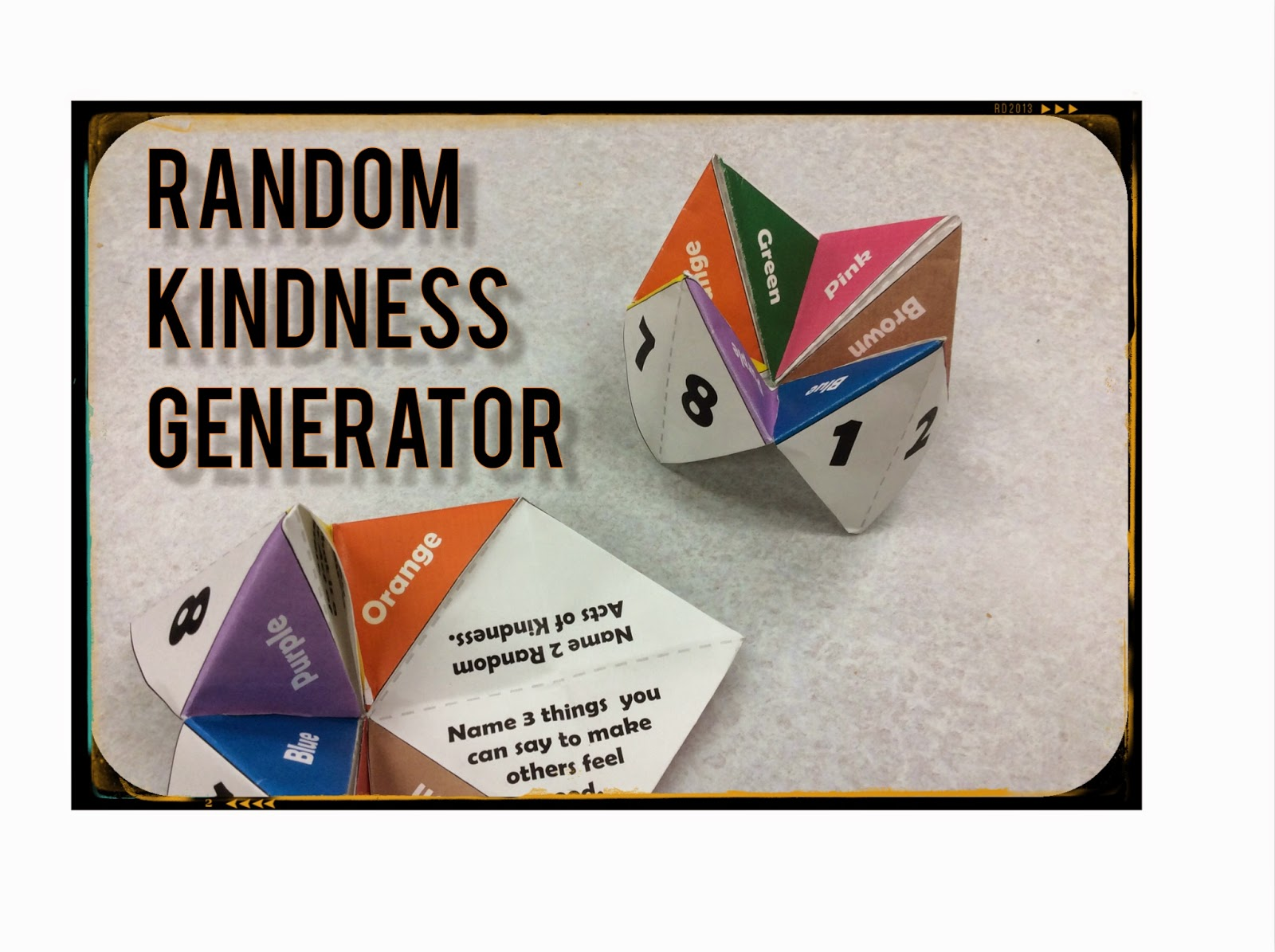 Random Kindness Generator - The Middle School Counselor