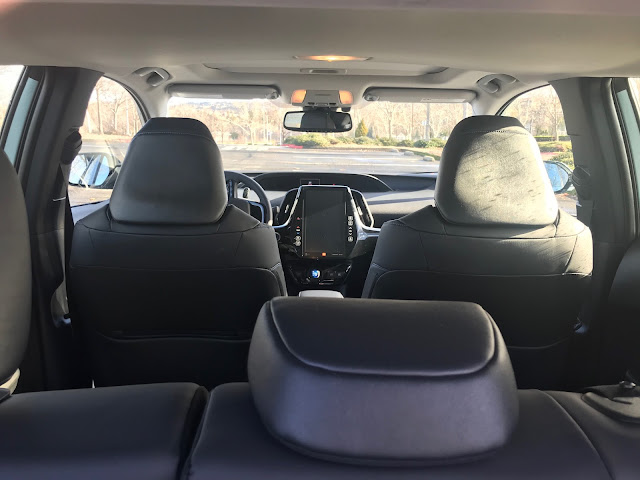 Interior view of 2020 Toyota Prius Limited