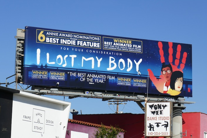 I Lost My Body Annie Awards billboard