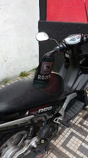 ROMO da GCM de Santo André localiza moto produto de furto abandonada na região central