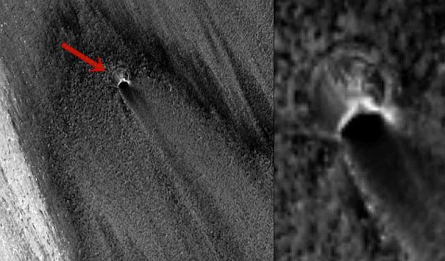 HIRISE captured Crashed UFO or Underground Base Entrance on Mars?  HIRISE%2BUFO%2Bentrance%2Bunderground%2Bbase%2BMArs%2B%25281%2529