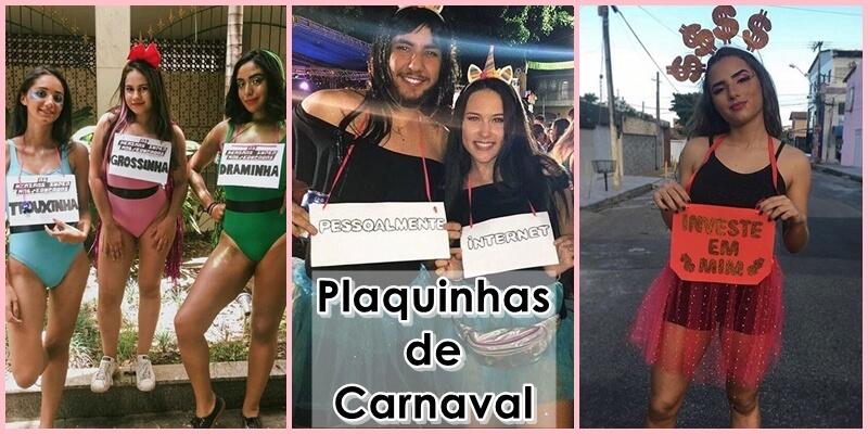 Plaquinhas de Carnaval