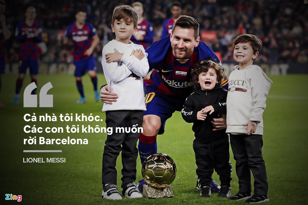 Messi trong buổi phỏng vấn ra thông báo ở lại Barca mùa 2020/21. Ảnh: Goal.