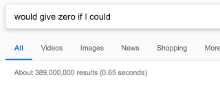 """would give it zero if I could"" Google search"
