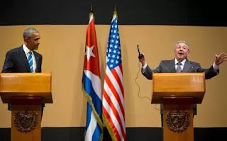 Cuba : Obama e Raúl Castro