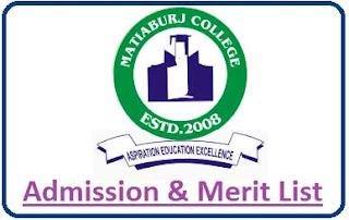 Matiaburj College Merit List