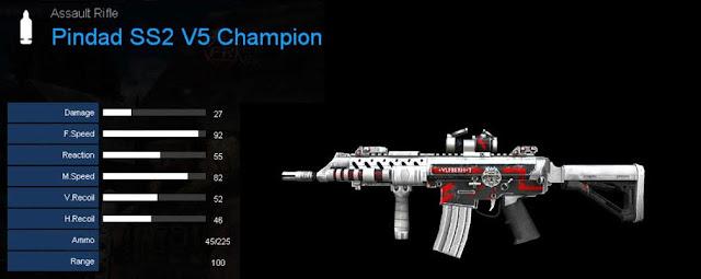 Detail Statistik Pindad SS2 V5 Champion