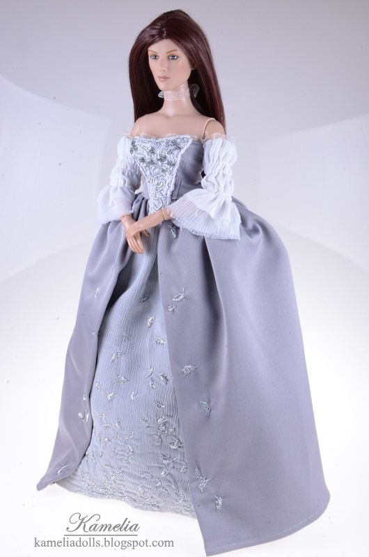 Outlander inspired dress for doll.