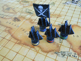 Dread Pirate: Buccaneer's Revenge playing pieces