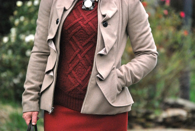 how to style burgundy, oxblood, burgundy on burgundy, monochromatic